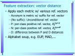 feature extraction vector distance1