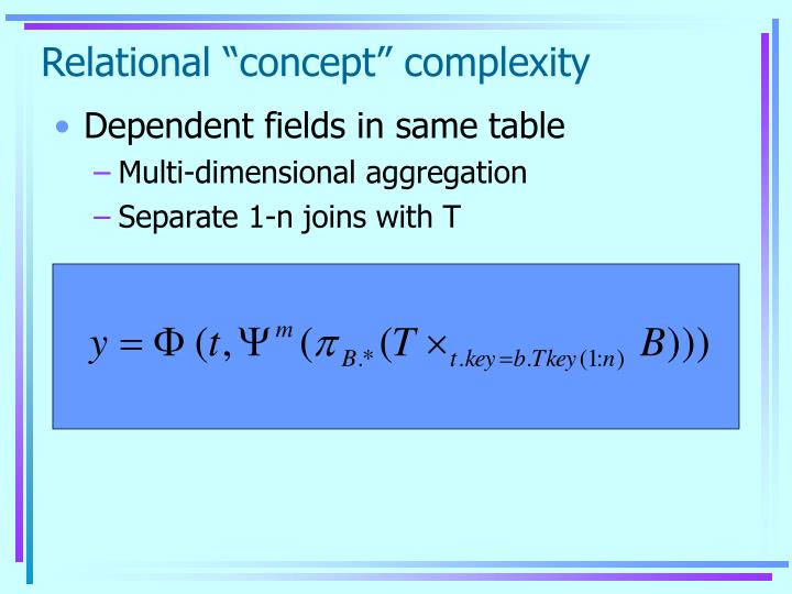 "Relational ""concept"" complexity"