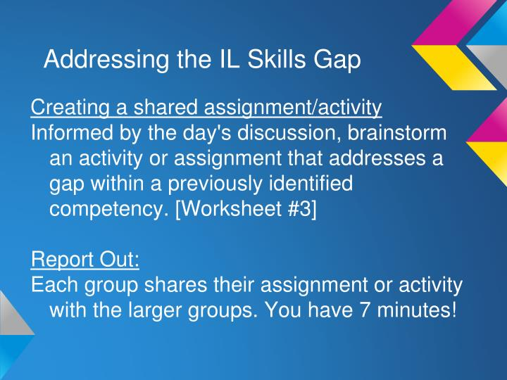 Addressing the IL Skills Gap