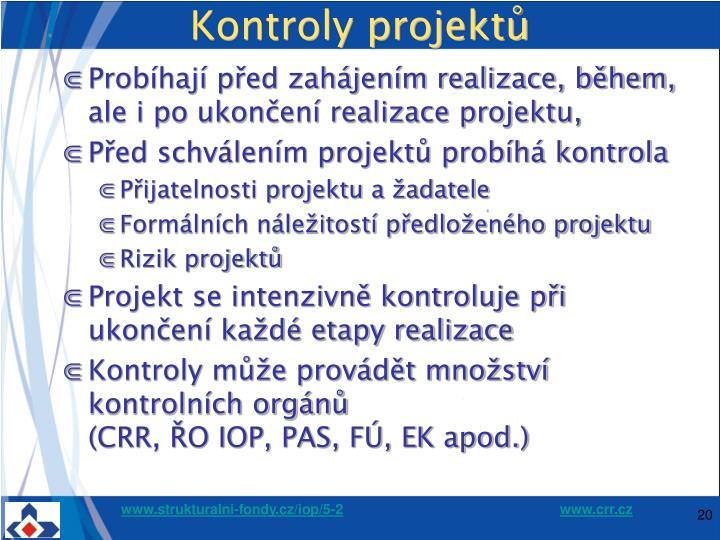 Kontroly projektů