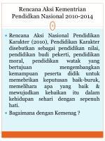 rencana aksi kementrian pendidkan nasional 2010 2014