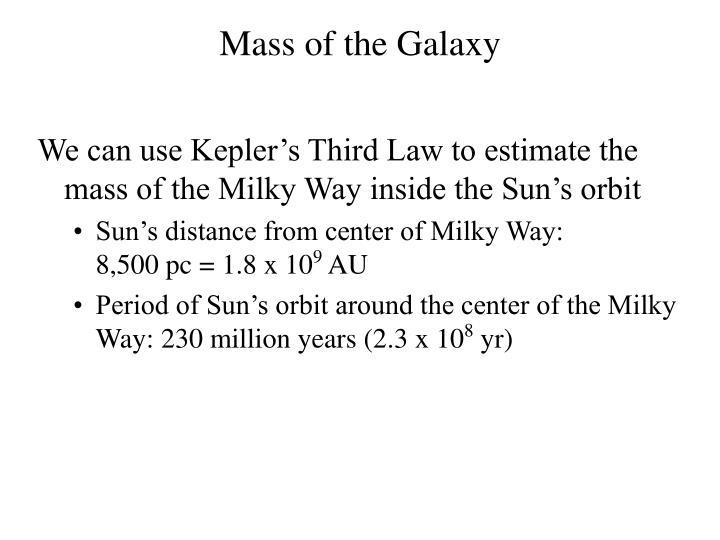 Mass of the Galaxy