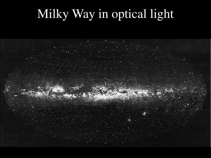 Milky Way in optical light
