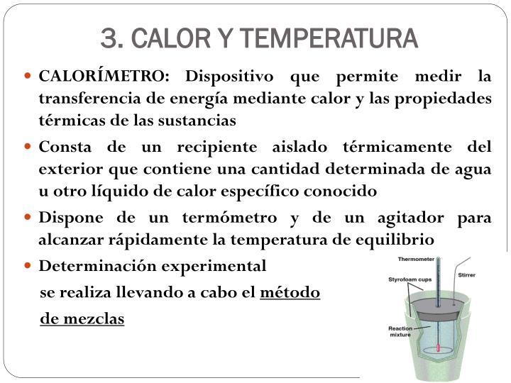 3. CALOR Y TEMPERATURA