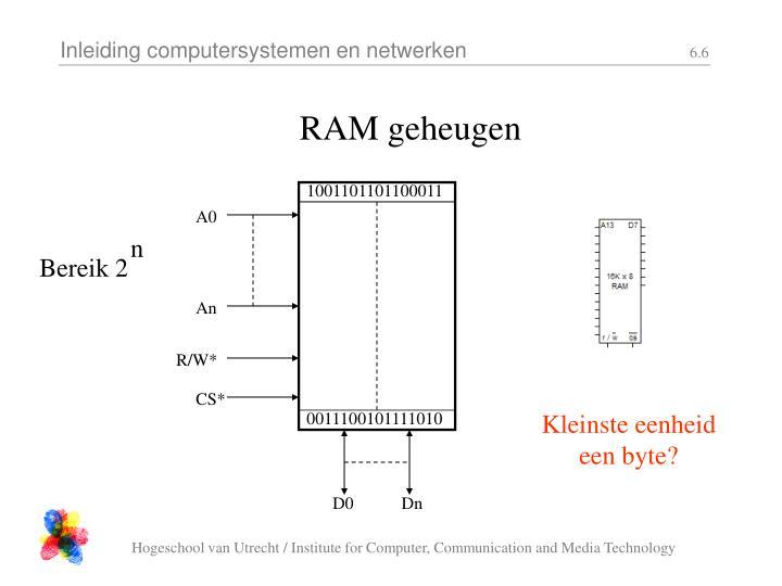 RAM geheugen