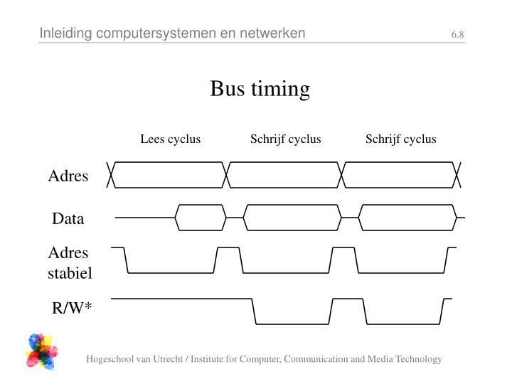 Bus timing