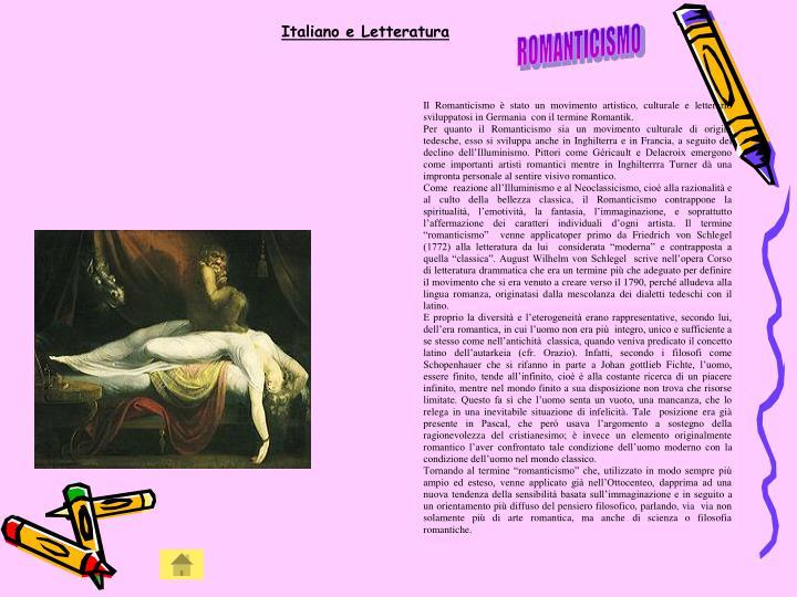 Italiano e Letteratura
