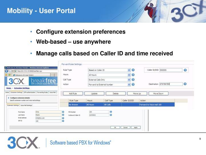 Mobility - User Portal
