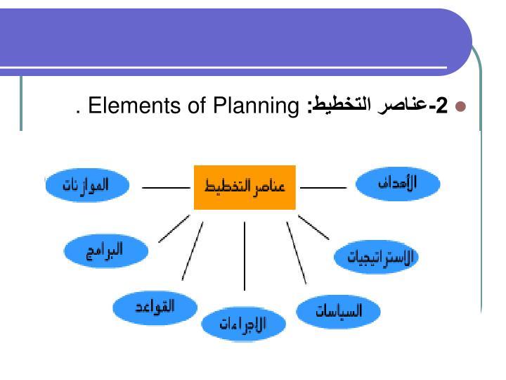 2-عناصر التخطيط:
