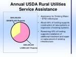 annual usda rural utilities service assistance