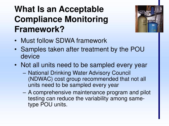 What Is an Acceptable Compliance Monitoring Framework?