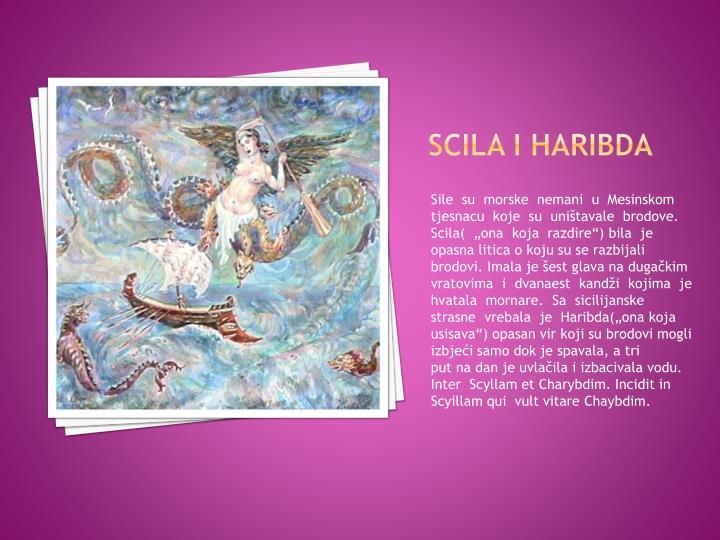 SCILA I HARIBDA