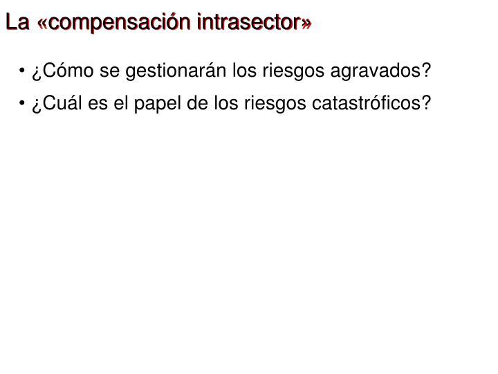 La «compensación intrasector»