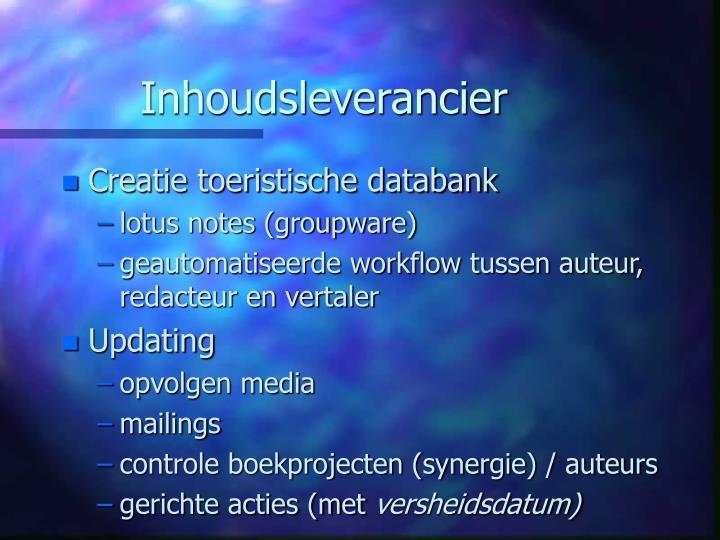 Inhoudsleverancier