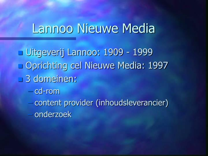 Lannoo Nieuwe Media