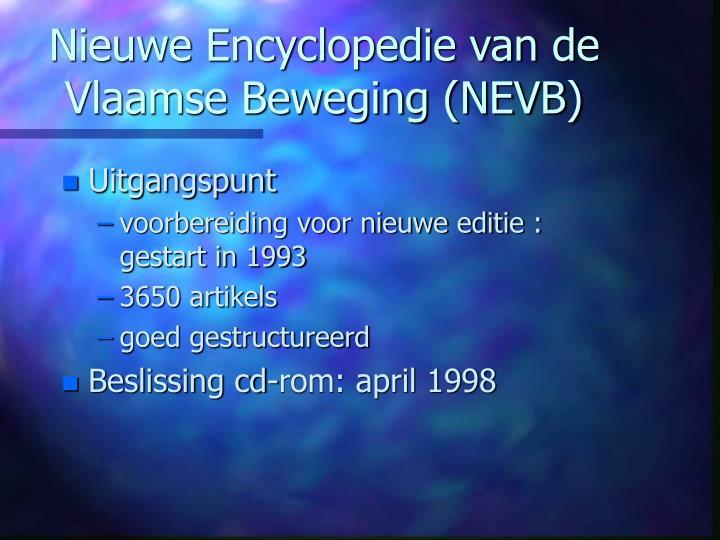 Nieuwe Encyclopedie van de Vlaamse Beweging (NEVB)