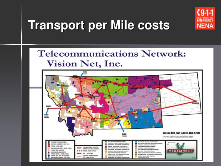 Transport per Mile costs