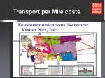 transport per mile costs