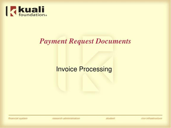 Payment Request Documents