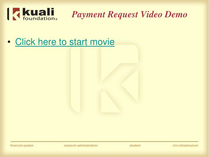 Payment Request Video Demo