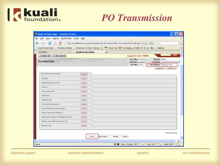 PO Transmission