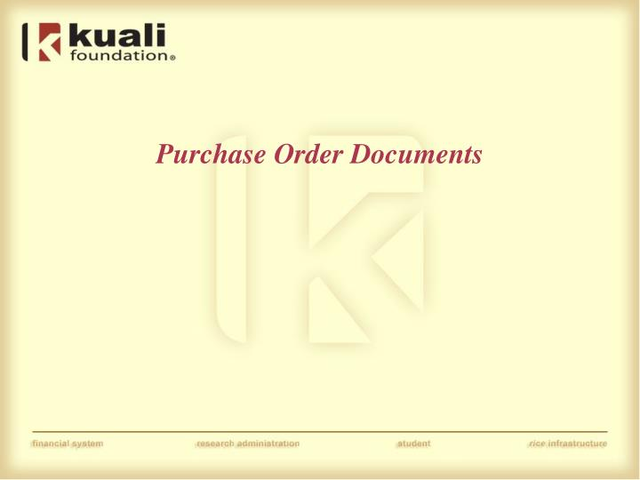Purchase Order Documents