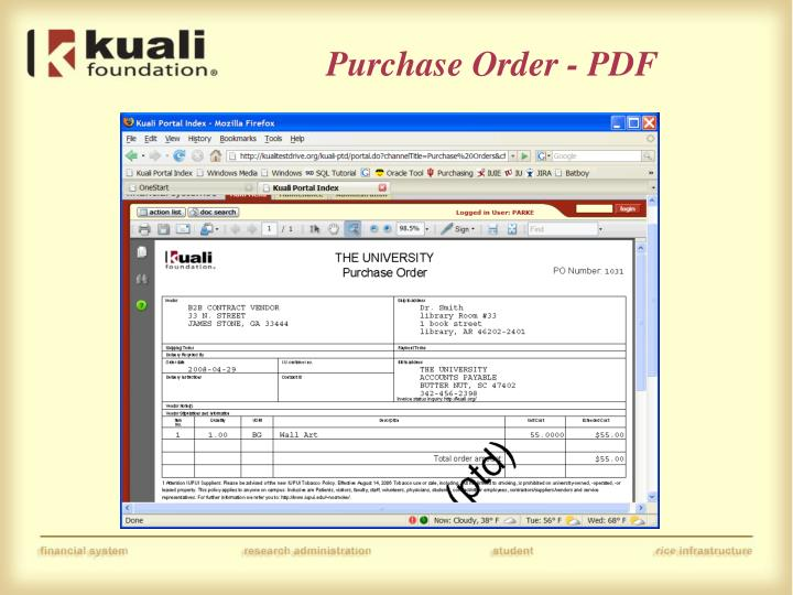 Purchase Order - PDF