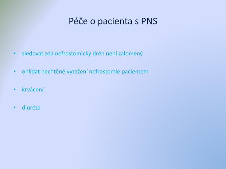 Péče o pacienta s PNS