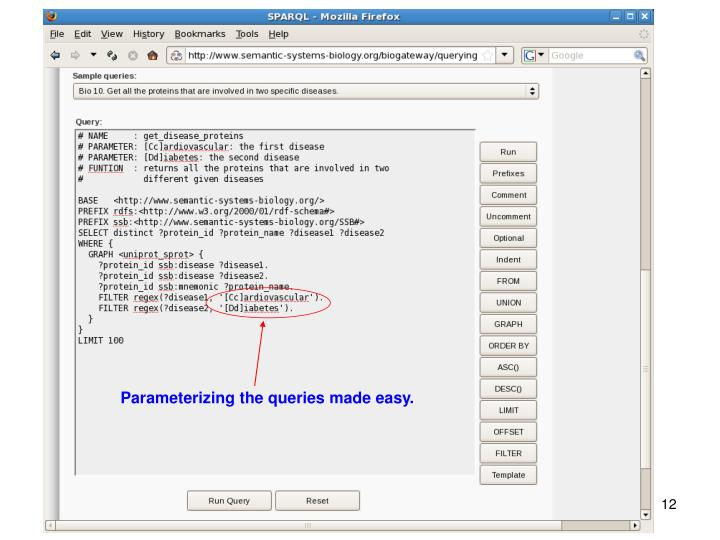 Parameterizing the queries made easy.