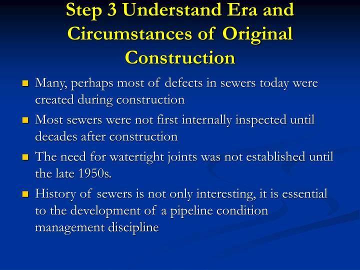 Step 3 Understand Era and Circumstances of Original Construction