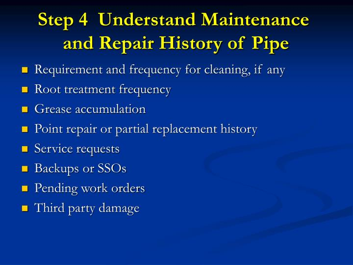 Step 4  Understand Maintenance