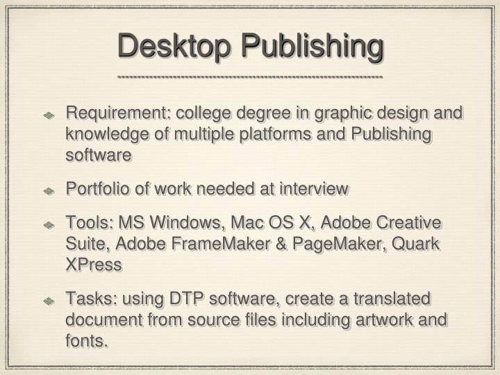 Desktop Publishing