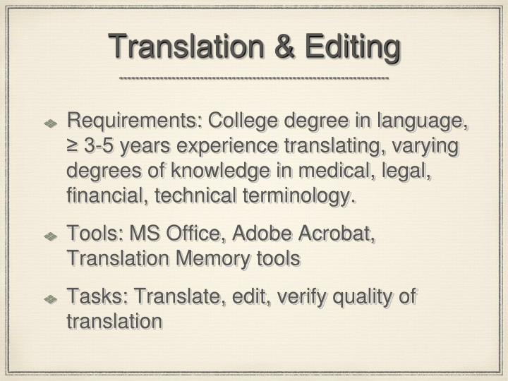 Translation & Editing