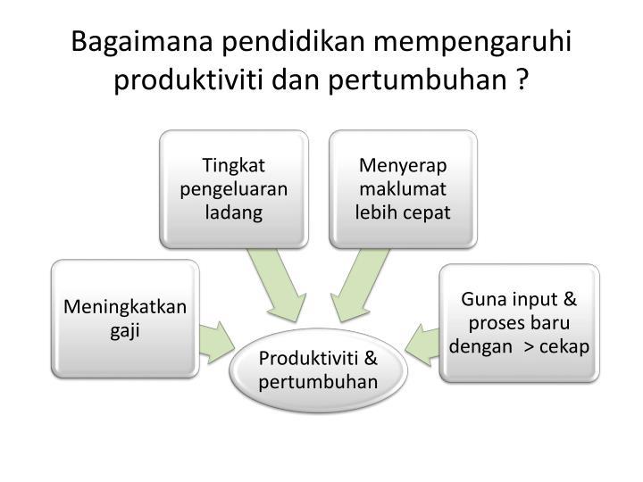Bagaimana pendidikan mempengaruhi produktiviti dan pertumbuhan ?