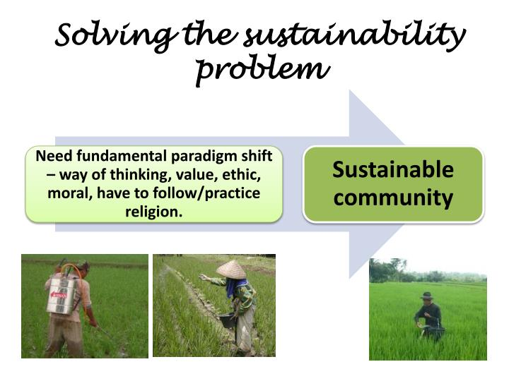 Solving the sustainability problem