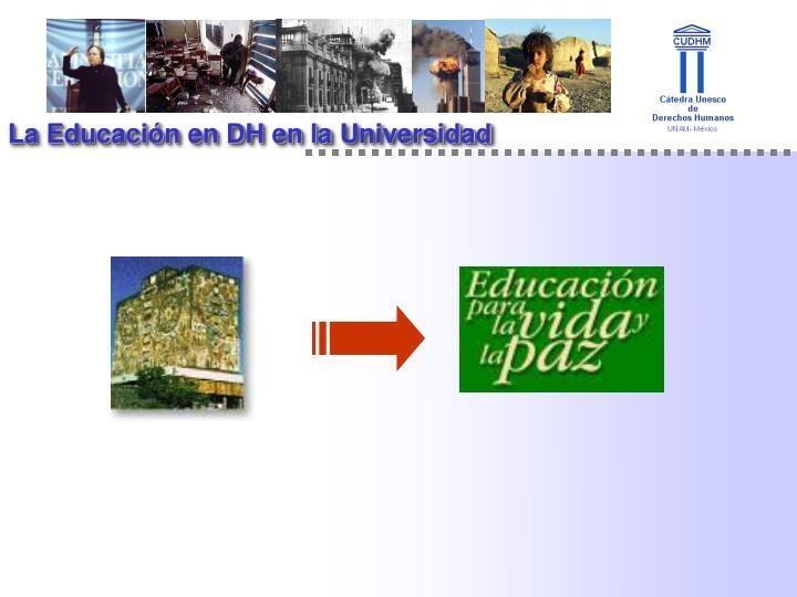 La Educación en DH en la