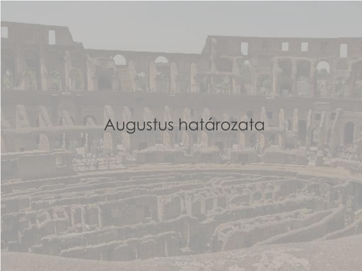 Augustus határozata