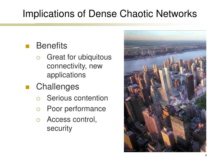 Implications of Dense Chaotic Networks