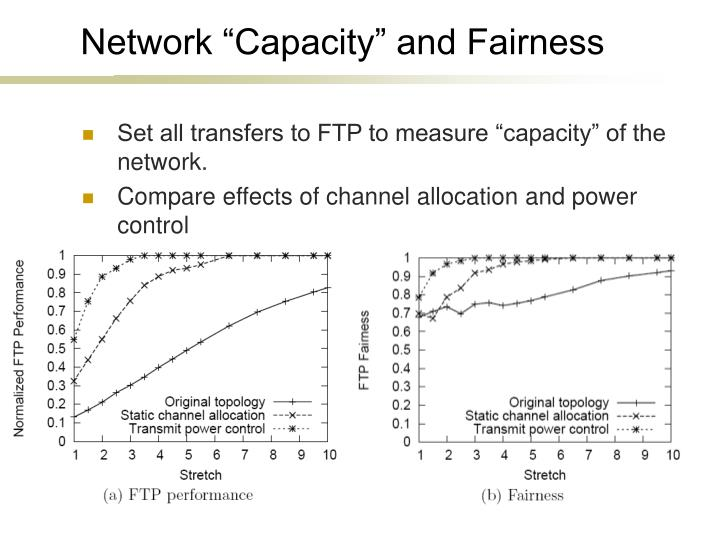 "Network ""Capacity"" and Fairness"