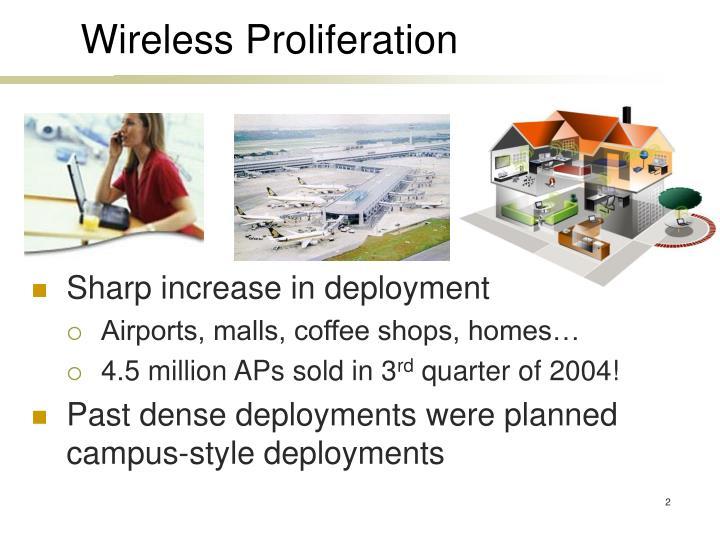 Wireless Proliferation