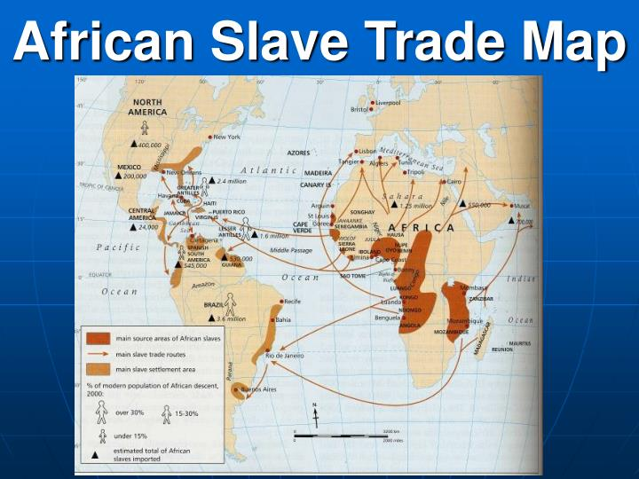 African Slave Trade Map