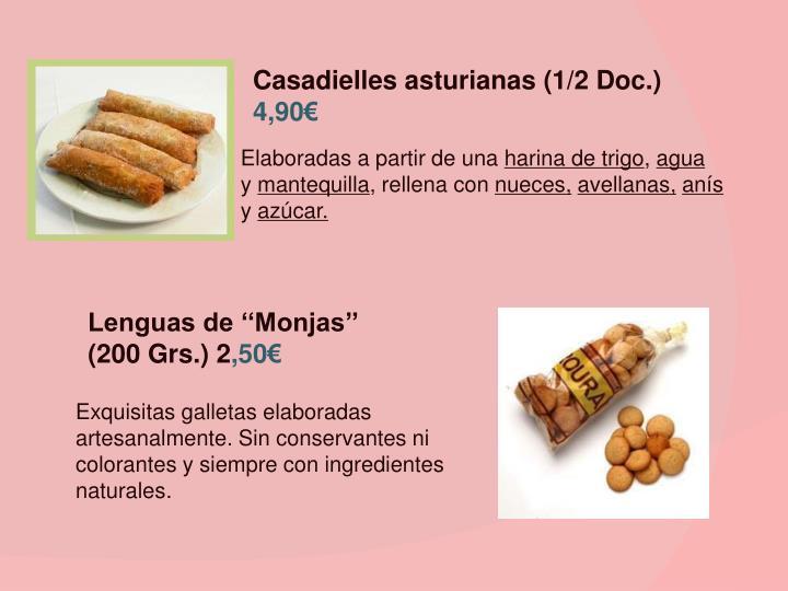 Casadielles asturianas (1/2 Doc.)