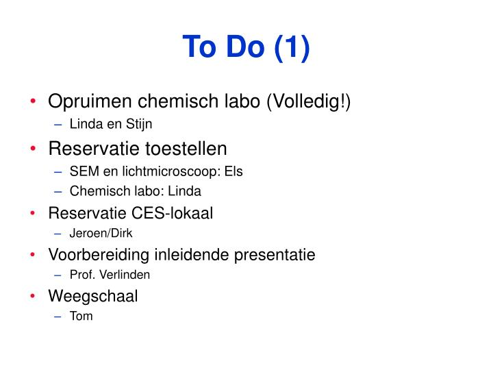 To Do (1)
