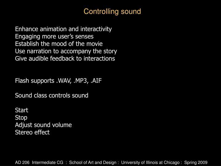 Enhance animation and interactivity
