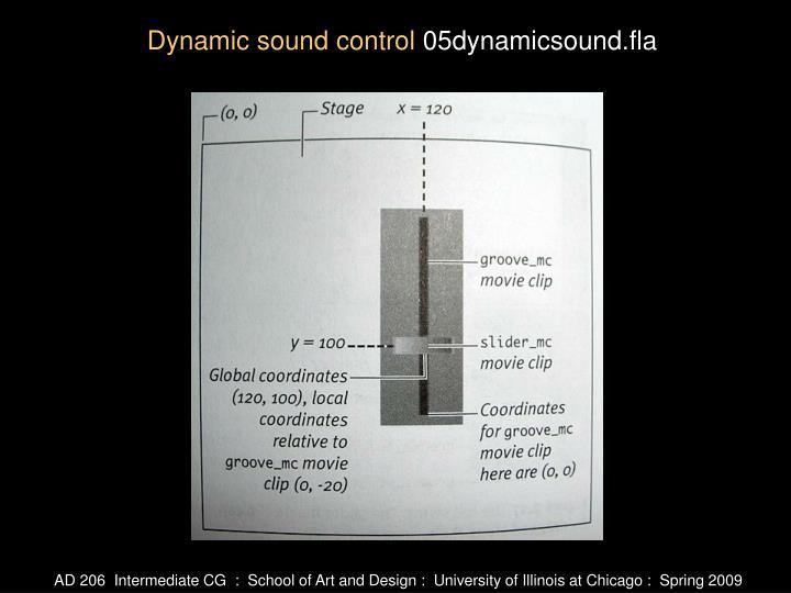 Dynamic sound control