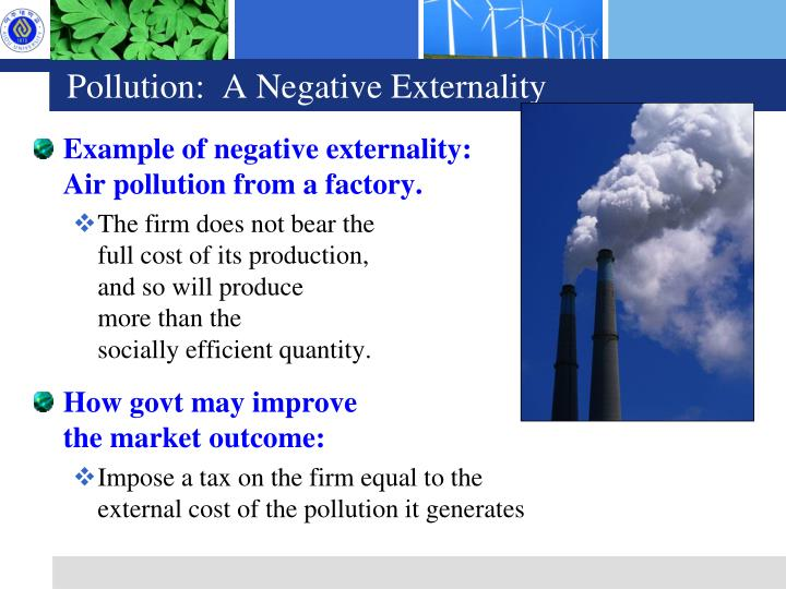 Pollution:  A Negative Externality
