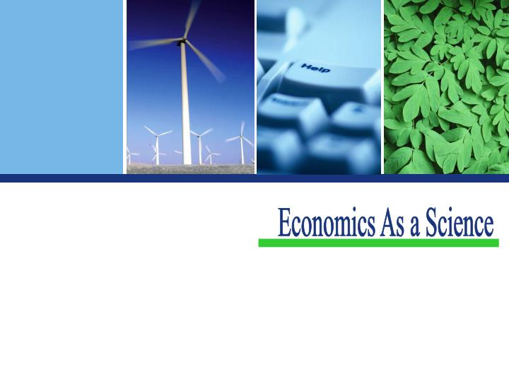 Economics As a Science