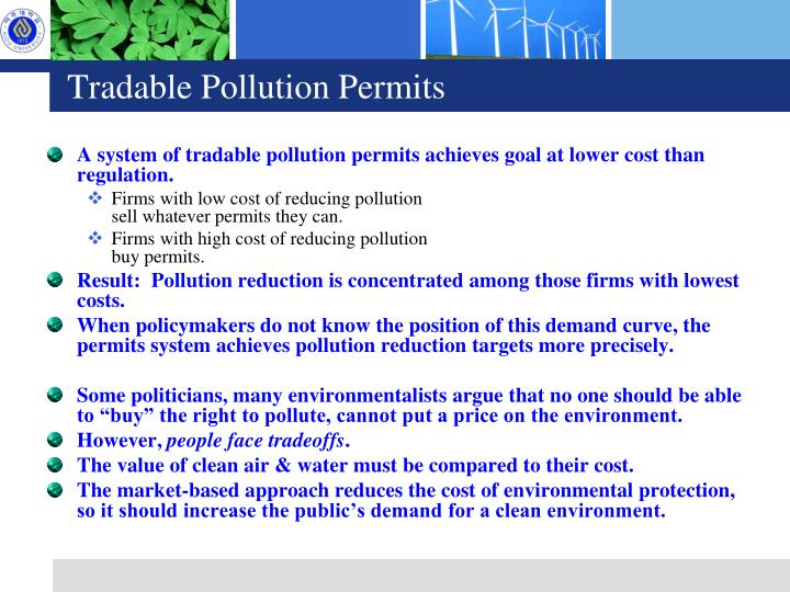 Tradable Pollution Permits