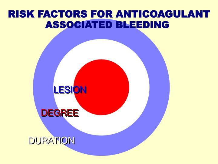 RISK FACTORS FOR ANTICOAGULANT
