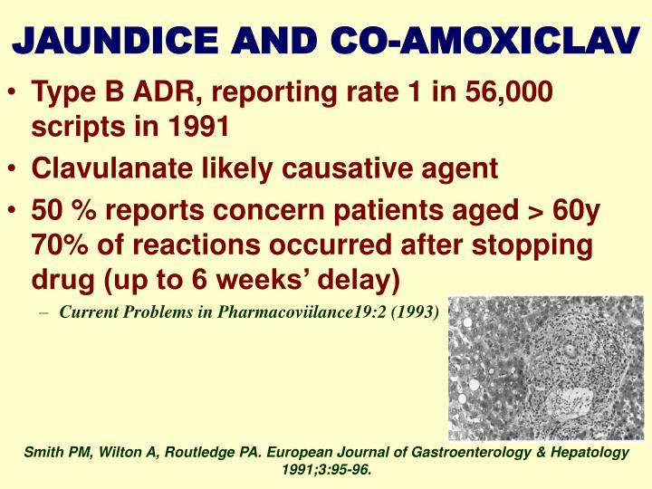 JAUNDICE AND CO-AMOXICLAV
